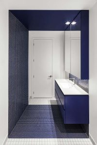 SDB bleue - Canari House