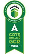 Garantie construction résidentielle - Cote qualité GCR A 2018
